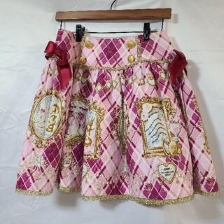 ベイビーザスターズシャインブライト(BABY,THE STARS SHINE BRIGHT)の赤ピンクゴールド ナポレオン風スカート(ミニスカート)