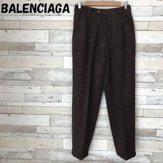 Balenciaga - 【人気】バレンシアガ リブ タックパンツ ブラウン サイズ79