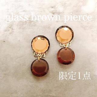 glass brown pierce(ピアス)
