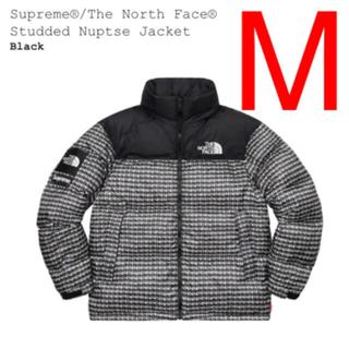 シュプリーム(Supreme)の黒M Supreme North Face Studded Nuptse (ダウンジャケット)