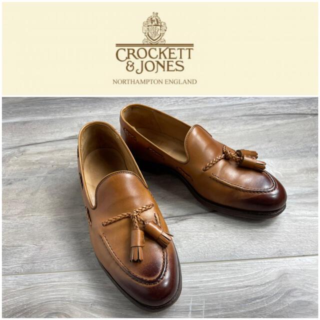 Crockett&Jones(クロケットアンドジョーンズ)のクロケット&ジョーンズ タッセルローファー ライトブラウン レザー 7 メンズの靴/シューズ(スリッポン/モカシン)の商品写真
