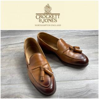 Crockett&Jones - クロケット&ジョーンズ タッセルローファー ライトブラウン レザー 7