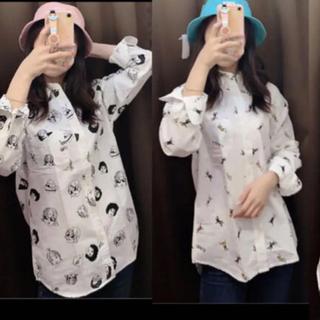 ★3点セット ユニセックス 100%コットンシャツ(シャツ/ブラウス(長袖/七分))