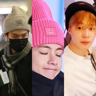 アクネ(ACNE)の最終値下げ acne studios ニット帽 ブラック BTS愛用 アクネ(ニット帽/ビーニー)