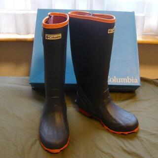 コロンビア(Columbia)の新品Columbia コロンビア* レインブーツ 長靴ネイビー×オレンジ23㎝(レインブーツ/長靴)