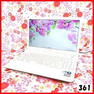 エヌイーシー(NEC)のノートパソコン本体♪Corei5♪新品SSD♪Office♪Windows10(ノートPC)