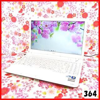 エヌイーシー(NEC)の人気のホワイトPC♪Corei5♪新品SSD♪初心者も安心♪Windows10(ノートPC)