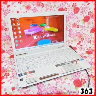 トウシバ(東芝)の【大人気パソコン!!】Corei5♪新品SSD♪初心者も安心♪Windows10(ノートPC)