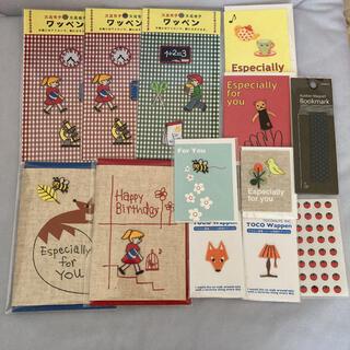 文具女子博 TOCONUTS 福袋 ワッペン グリーティングカード ブックマーク(カード/レター/ラッピング)