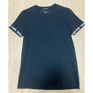 BALMAIN - BALMAINバルマン美品❗️ロゴ Tシャツ ブラックXSサイズ
