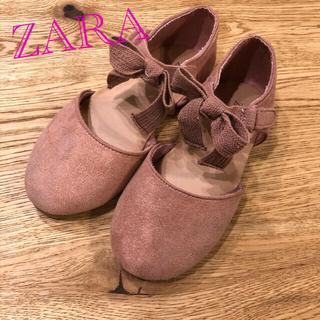 ザラ(ZARA)の【ZARA】キッズ スエードパンプス 26(フォーマルシューズ)
