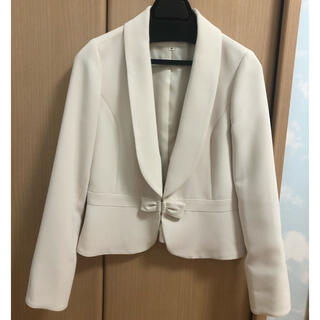 ミッシュマッシュ(MISCH MASCH)のジャケット スーツ スーツジャケット レディース ホワイト 36号 Sサイズ(テーラードジャケット)