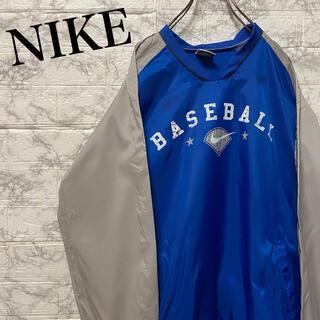 ナイキ(NIKE)のナイキ ゲームシャツ プルオーバーナイロンジャケット ビッグプリント(シャツ)