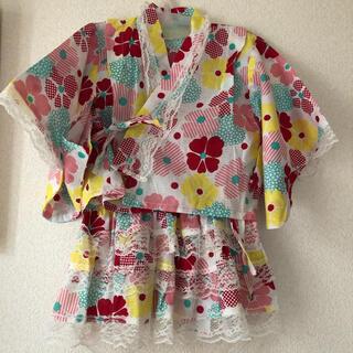 シマムラ(しまむら)の新品未使用 タグ付き 浴衣 3点セット 90cm 女の子 バースデイ(甚平/浴衣)