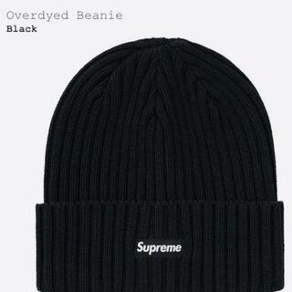 シュプリーム(Supreme)の21ss Supreme Overdyed Beanie BLACK(ニット帽/ビーニー)