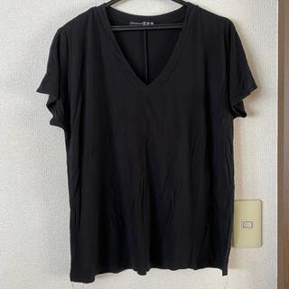 アトモスフィア(ATMOSPHERE)のATMOSPHERE Tシャツ Vネック カットソー 黒(Tシャツ(半袖/袖なし))