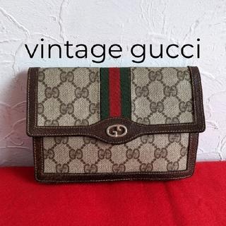 Gucci - 希少 レア!Gucci シェリーライン ビンテージクラッチバッグ ミニ財布