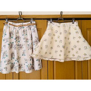 ディップドロップス(Dip Drops)のハナガラスカート2点▸︎▹︎春夏活躍♡(ひざ丈スカート)