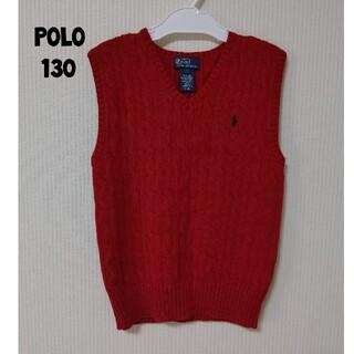 POLO RALPH LAUREN - polo ラルフローレン 赤 ニット ベスト サイズ7 130cm