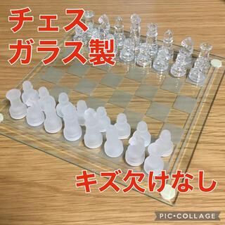 チェス ガラス製(オセロ/チェス)