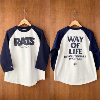 ラッツ(RATS)のRATS 初期 ラグランスリーブ 7分袖 Tシャツ 旧タグ(Tシャツ/カットソー(七分/長袖))
