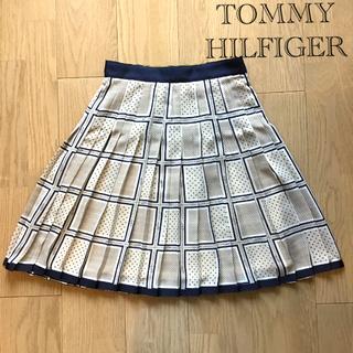 トミーヒルフィガー(TOMMY HILFIGER)のTOMMY HILFIGER プリーツスカート(美品)(ひざ丈スカート)