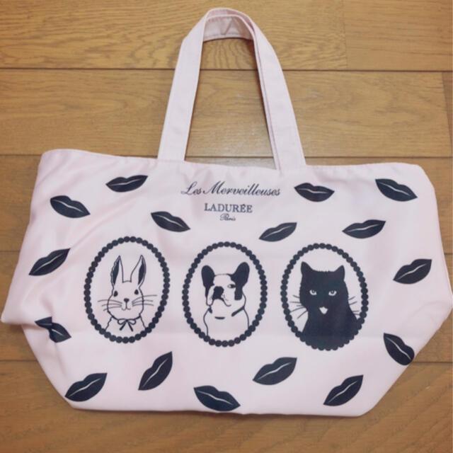 Les Merveilleuses LADUREE(レメルヴェイユーズラデュレ)の新品レメルヴェイユーズラデュレ アニマルトートバッグpk レディースのバッグ(トートバッグ)の商品写真