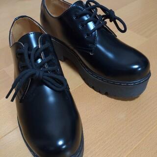 アシナガオジサン(あしながおじさん)の新品未使用タグ付き あしながおじさん ブラック  厚底(ローファー/革靴)