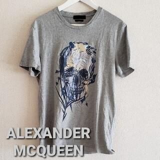 アレキサンダーマックイーン(Alexander McQueen)のALEXANDER MCQUEEN スカルプリントTシャツsizeS(Tシャツ/カットソー(半袖/袖なし))