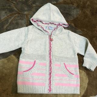 韓国子供服フード付きニットジャケットパーカー綿100%女の子(パンツ/スパッツ)