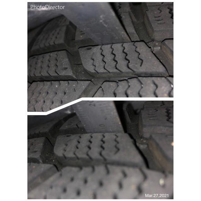 Goodyear(グッドイヤー)の☆美品最安☆50/30プリウス,カローラ スタッドレスタイヤ&ホイール 4本 自動車/バイクの自動車(タイヤ・ホイールセット)の商品写真