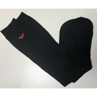 ロキシー(Roxy)の【新品】ROXY  ロキシー 靴下 ソックス 黒 23〜25cm(ソックス)