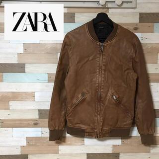 ザラ(ZARA)のZARA フェイクレザージャケット ダメージ加工 L(レザージャケット)