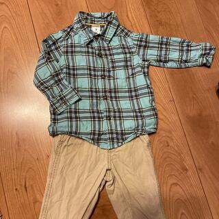 カーターズ(carter's)のカーターズ チェックシャツ パンツ セット(シャツ/カットソー)