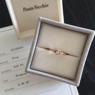 ポンテヴェキオ(PonteVecchio)のK18PGポンテヴェキオ・ダイヤリング♡(リング(指輪))