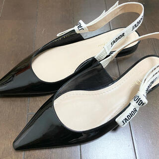 クリスチャンディオール(Christian Dior)の正規店購入品 超美品 クリスチャン ディオール DIOR バレエフラットシューズ(バレエシューズ)