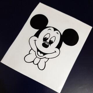 ディズニー(Disney)のミッキーステッカー二枚(しおり/ステッカー)