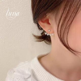 スタージュエリー(STAR JEWELRY)のPearl☆Zirconia pierce Jacket★s925 2way (ピアス)