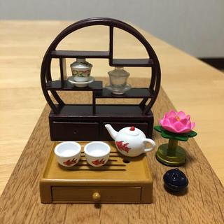 ミニチュア 【茶器&飾り棚セット】 ぷちサンプルシリーズ 食玩(その他)