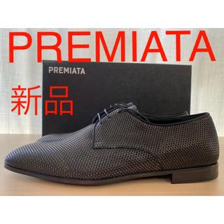 プレミアータ(PREMIATA)の新品 PREMIATA プレミアータ エンボス加工レザー ダービーシューズ(ドレス/ビジネス)
