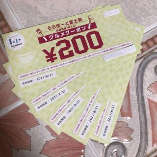 ららぽーと富士見 グルメクーポン1000円分(フード/ドリンク券)