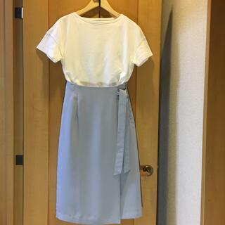 ナチュラルビューティーベーシック(NATURAL BEAUTY BASIC)のナチュラル ビューティ ベーシック  ラップ風スカート(ロングスカート)