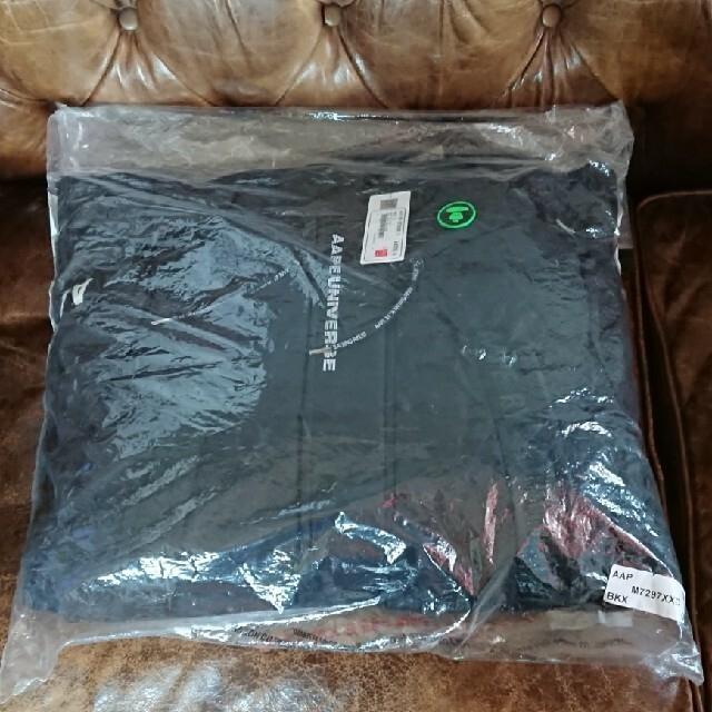 A BATHING APE(アベイシングエイプ)のAAPE BY A BATHING APE DOWN JACKET L 黒 メンズのジャケット/アウター(ダウンジャケット)の商品写真