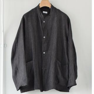 COMOLI - リネンヘリンボーン スタンドカラージャケット