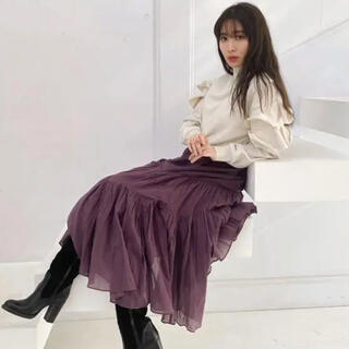 スナイデル(snidel)のAsymmetric Tiered voile Skirt her lip to(ロングスカート)