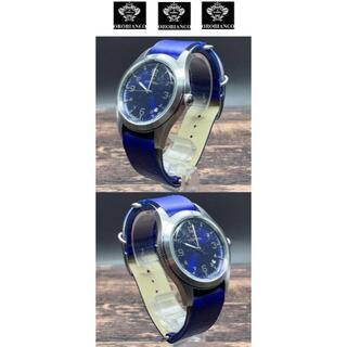 Orobianco - Orobianco オロビアンコ 瑠璃色ミリタリーNATO革ベルト腕時計 未使用