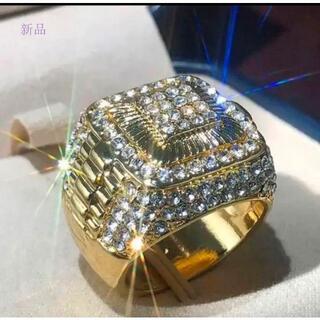 ゴージャスに決めろ… メンズリング ブリンブリン ジルコニア CZダイヤモンド(リング(指輪))