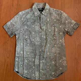 シップスジェットブルー(SHIPS JET BLUE)のSHIPS JET BLUE ペイズリー柄半袖シャツ SMALL(シャツ)
