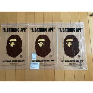 アベイシングエイプ(A BATHING APE)のアベイシングエイプ APE 透明バック 6枚枚セット(ショップ袋)
