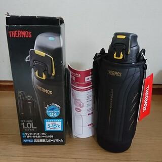 サーモス(THERMOS)の新品未使用 サーモス FFZ1000F 1.0リットル 水筒 黒 黄色(その他)
